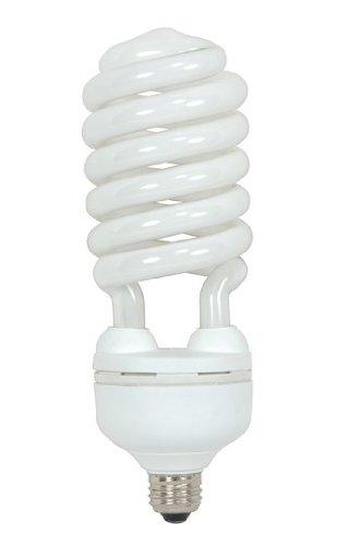 (Pack of 6) Satco S7338, 55 Watt (250 Watt) 3700 Lumens Hi-Pro Spiral CFL Bright White 4100K Medium Base 120 Volt Light Bulb, Compact Fluorescent Bulb