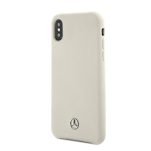 Mercedes Benz iPhone X - by CG Mobile - Beige Cell Phone Case Silicone | Easily Accessible Ports | Officially Licensed.