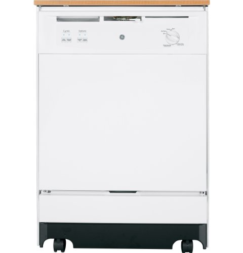 "GE GSC3500DWW 24"" White Portable Full Console Dishwasher - Energy Star"