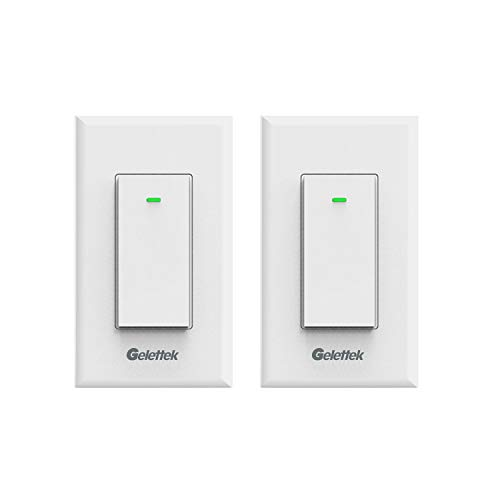 WiFi Smart Wall Light Switch,Touch,Voice and Remote Control Lights and Appliances Timing Function Compatible with Alexa and Google Assistant,No Hub Required, Natural Wire Required 15A -2 Pack