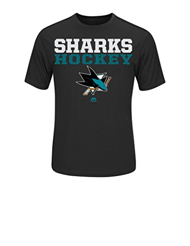 NHL San Jose Sharks Men's From Athletics Tee, Small, Black