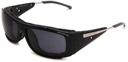Bobster Traitor ETRA001 Rectangular Sunglasses,Black Frame/Smoke Lens,One Size For Sale