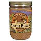 Once Again Natural Old Fashioned No Salt Creamy Peanut Butter, 16 Ounce -- 12 per case.