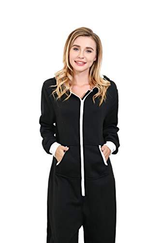 6aad3e2fcf3 Nicetage Unisex-Adult Hooded Onesie Jumpsuit Printed Christmas Romper  Overall Zip up Playsuit