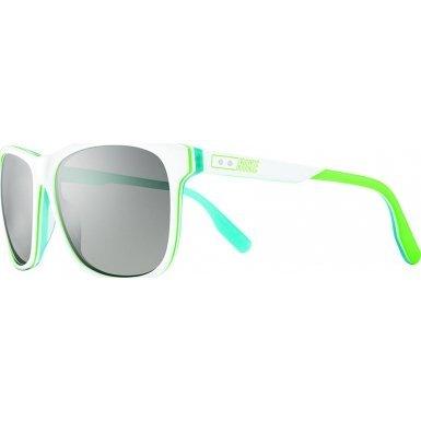 Nike MDL. 290 Sunglasses, White/Poison Green/White/Aqua, Grey with Silver Flash - Nike Sunglasses Retro