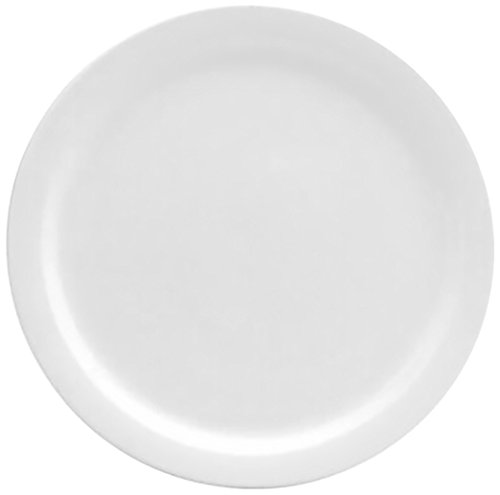 Oneida Foodservice F9000000149 Narrow Rim Dinner Plate, 10.25'', Cream White Porcelain, Set of 24 by Oneida