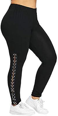 pantalón de Mujer Talla Fuerte Pantalones Casual Leggings ...