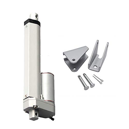 GUWANJI 12V DC 300mm 12 Inch Stroke Classic Rod Linear Actuator 400N/40KG/88lbs 20mm/s Lift with Mounting Brackets