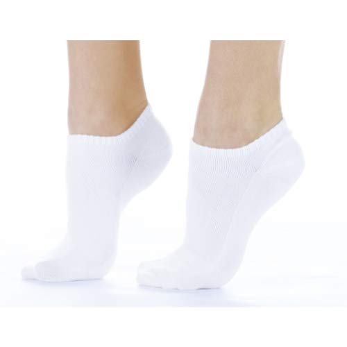Women's White Buster Brown Quick Dry No-Show Socks ()