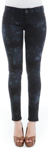 UPC 883459758827, WallFlower Juniors Tie Dye Sassy Skinny Jeans in Black Tie Dye Size: 0