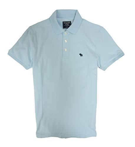 Abercrombie & Fitch Men's Polo Shirt (Light Blue, L)