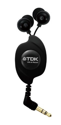 TDK LoR Retractable Iyakanaru CLEF-FINE Black TH-EC130BK