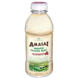 AMASAI Whole Milk Raspberry 6, 16 oz bottles. - 2 Pack by Beyond Organic