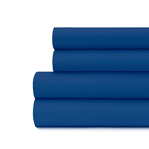 Briarwood Home Luxury Jersey Sheet Set- Extra Soft 100% Cotton Breathable Sheets - 150 GSM Deep Pocket, Easy Fit - Comfortable & Cozy - All Season Bedding Sheets (Queen, Royal Blue) (Jersey Knit Sheets Queen Size)