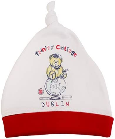 White and Red Trinity College Dublin Ireland Bear Baby Hat