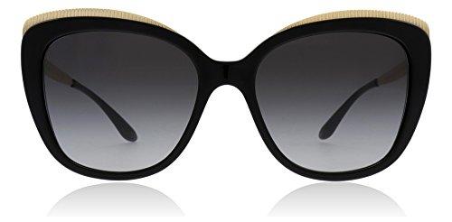 (Dolce & Gabbana Women's 0DG4332 Black/Gold/Grey Gradient One Size)