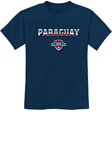 TeeStars - Paraguay National Soccer Team 2016 Paraguayan Fans Youth Kids T-Shirt Medium Navy ()