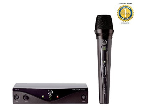 AKG Perception Wireless Vocal Set Band A (SR45 Receiver & HT45 Mic) with 1 Year Free Extended Warranty