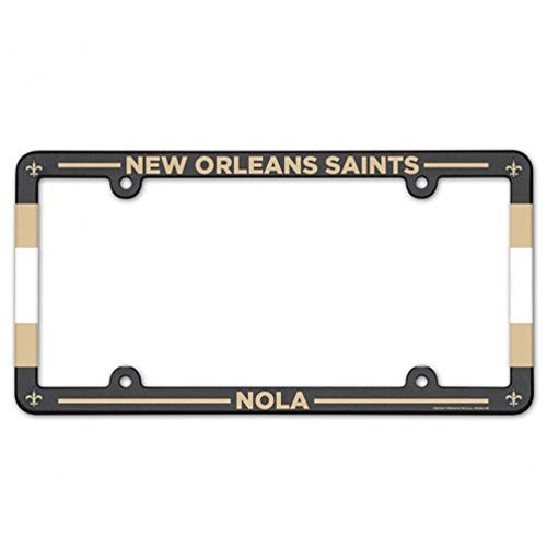 Wincraft NFL New Orleans Saints Stadium Plastic License Plate Frame ()