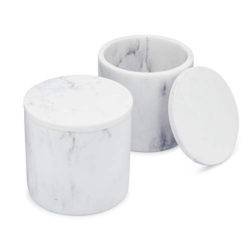 EssentraHome White Jar with Lid ...