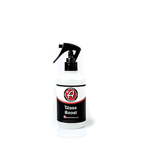 Repellent Adams (Adam's Glass Boost 8oz - Durable and Easy Application - Boosts Hydrophobic Properties To Bead And Repel Water)