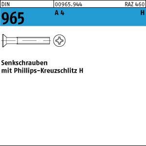 H M6x25 200 Edelstahl V4A Kreuzschlitz Senkschrauben DIN 965 A4