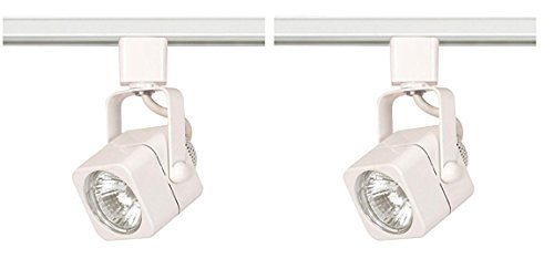 Nuvo TH312 Mr16 Square Track Head, White (White, 2 Pack)