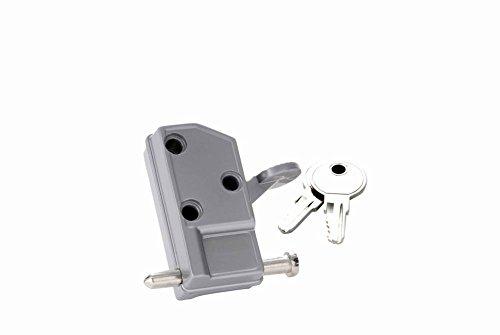 Keyed Patio Door Lock in Aluminum (Set of 10) (Keyed Individually)