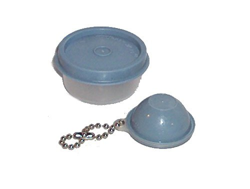 Tupperware Smidget Tiny Treasure Mini Bowl and Matching Wonderlier Bowl Keychain in Country Blue