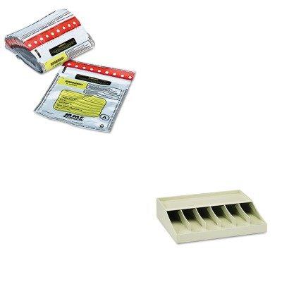 KITMMF210470089MMF2362010N06 - Value Kit - MMF Tamper-Evident Deposit/Cash Bags (MMF2362010N06) and MMF Bill Strap Rack (MMF210470089)