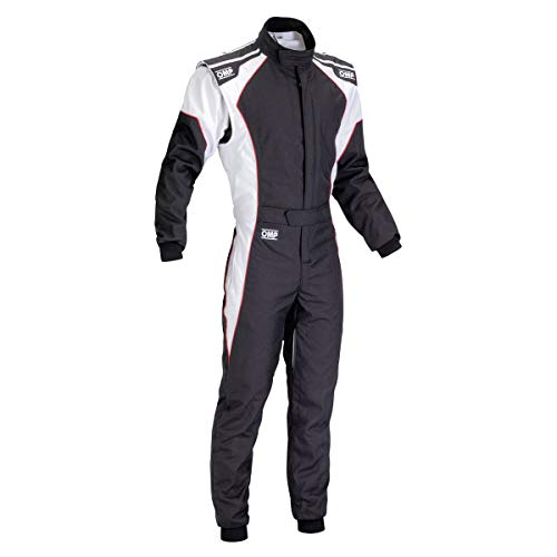 OMP KS-3 Kart Suit KK01723 (Size: 48, Black/White) ()