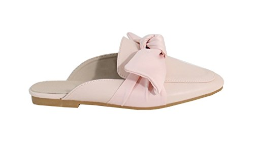 Rose By Cuir Plate Shoes Mule Femme Style qq0Yfw
