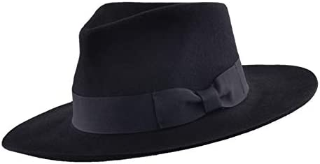 Fedora Hat Hand Made Wool Fedora Hat with Grosgrain Band and Wide Stiff Brim Mens Womens Trilby Fedora Style Hat