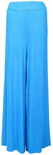 Turquoise dames larges pantalons vase 44 Pantalon Palazzo Nouveau Panama36 jambes zx7RdTR