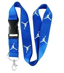Blue Jordan Lanyard Keychain Holder