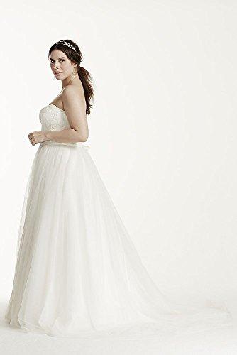 eccf005d5ff10 Soft Tulle Lace Corset Plus Size Wedding Dress Style 9WG3633