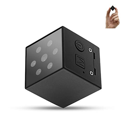 Pikooo Mini Spy Camera Hidden Nanny Camera with Night Vision and Motion Detection - Wireless for Indoor Outdoor Use - 1080p HD Recording - No WiFi Required - Hidden Security for Home or Business (Nanny Cam Waterproof)