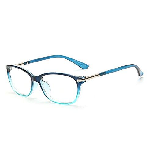 D.King Vintage Horn Rimmed Cat Eye Eyeglasses Frame Glasses Clear Lens - For Blue Women Eyeglasses