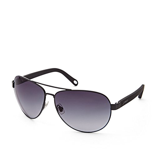 Fossil Fos3033s 0003 Edgefield Aviator Sunglasses - Black