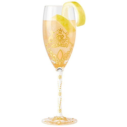 Enesco 6002446 C'est Moi Hand Painted Prosecco Glass Champagne Flute, 8.66 Inches, Multicolor