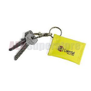 Laerdal 460008 Face Shield CPR Barrier Key Ring, Yellow (Pack of 25)