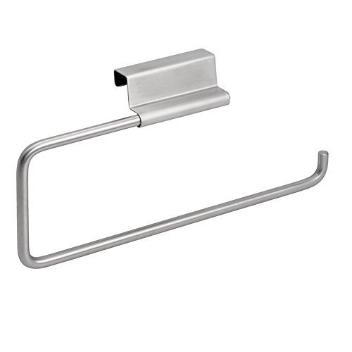 Forma Swivel Paper Towel Holder for Kitchen Under Cabinet Door/Drawer Brushed Finish