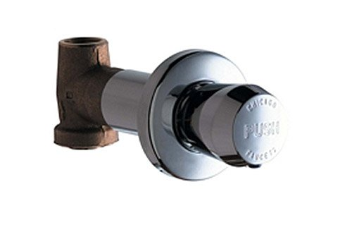 Chicago Faucets 770-665PSHCP Concealed In-Wall Straight Valve, Chrome