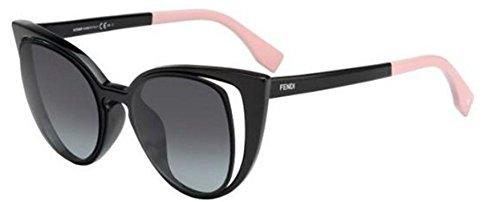 Fendi PARADEYES FF 0136/S NY1/HD black pink/grey shaded Sunglasses