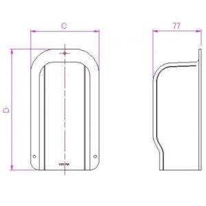10個セット 配管化粧カバー 出口化粧カバー(後付用) 70タイプ ブラック KD2-70A-B_set