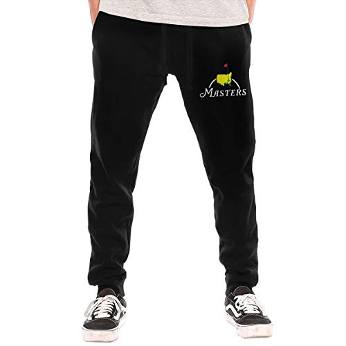 Masters Tournament Augusta National Golf Men's Fashion Sweatpants Workout Athletic Jogger Long Pants Black