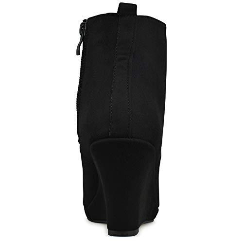 Walking Shoe Low Boot L Bootie Side Closed Women's Standard Premier – Black Elastic Panel Heel Toe Ankle Casual p6wqpFzPAx