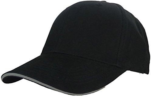 Structured Washed Cotton Baseball Caps, Adjustable Slider, Sandwich (Organic Cotton Cap)