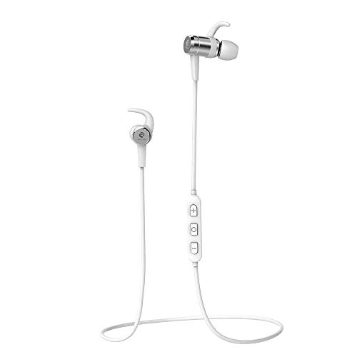 Raycon E17 Magnetic Wireless Bluetooth Headphones – Running Sport in-Ear Earphones, Noise Cancelling Sweatproof Earbuds with Mic White