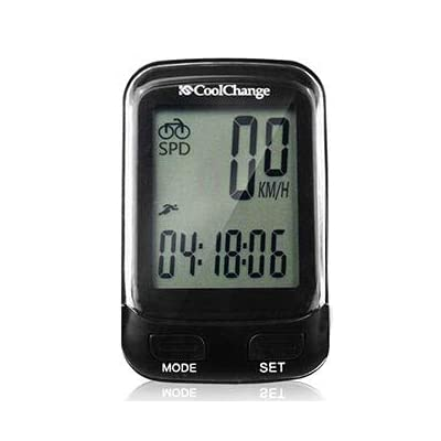 MonkeyClimb CoolChange 57019 Bicycle Computer Wireless Waterproof Speedometer Odometer with LCD Backlight : Sports & Outdoors
